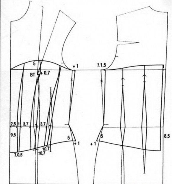 Drawn diagram of the pattern corrector posture