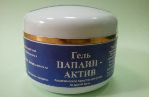 medicinal gel for softening of the cartilage