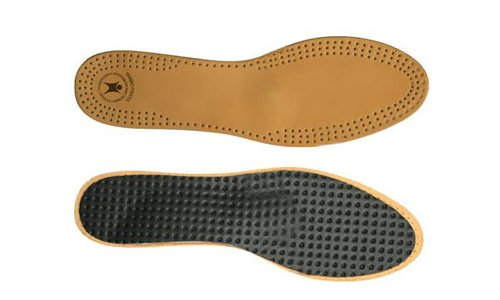 Leather orthotic insole