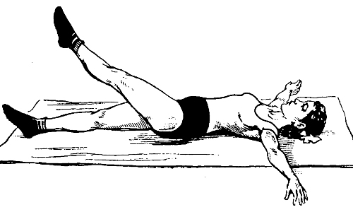 Exercise stretching belly
