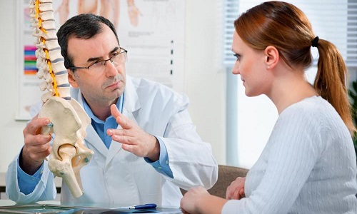 visit to the doctor in dorsopathies of the cervical spine