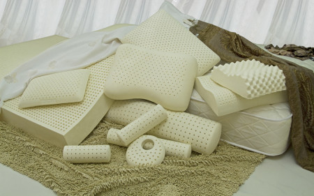 Latex orthopedic pillow