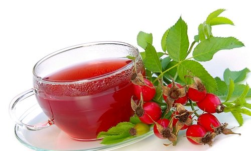 a Decoction of rose hips for the treatment of meningioma