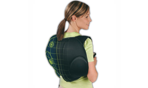 Massager in the form of a satchel