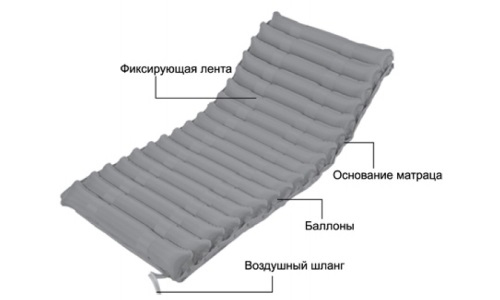 Device, bedsore mattress