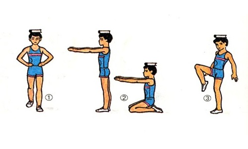 exercises with the book training for posture