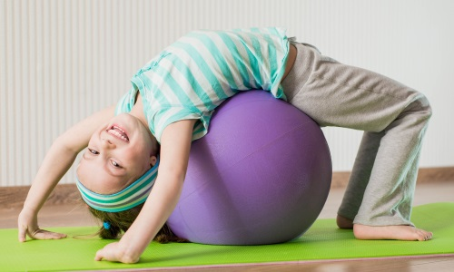 the Use of exercise ball for posture