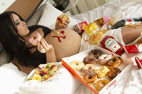 poor diet during pregnancy is the cause of abdominal pain