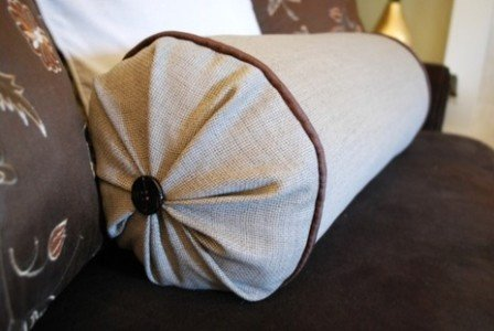 orthopedic pillow-cushion in the interior