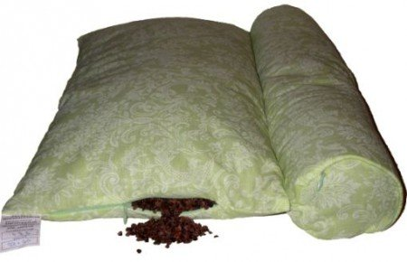 cushion with buckwheat husk