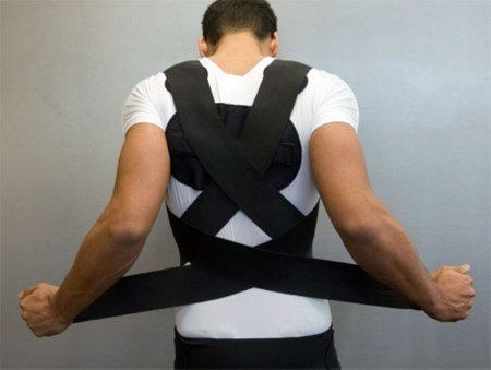 orthopedic corset for the treatment of stoop