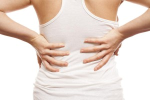 aching back pain in the lumbar region